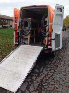 Sewage Backup Cleanup Truck